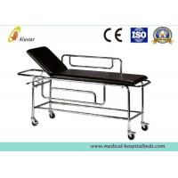 Buy cheap Patient Emergency Stainless Steel Stretcher Trolley For Ambulance With Backrest Raising (ALS-ST002b) product