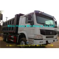 Buy cheap 6 x 4 336hp / 371hp Sinotruk Howo Tipper  Dump Truck Hyva Lifting Iso Ccc  thickness of bottom and side product