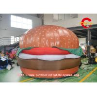 China  Advertising Food Inflatable Hamburger Model with air blower  for sale