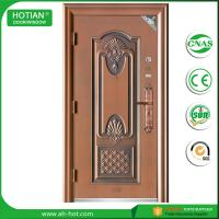 Buy cheap water proof exterior steel apartment building entry doors imitated copper door design product