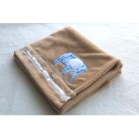 Coffee Color Polyester Baby Blanket Flannel Various Design / Size