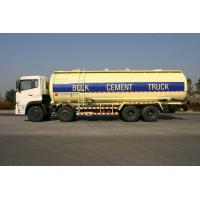 Buy cheap 8x4 27cbm Dry Bulk Truck Low Alloy Steel For Flour , Bulk Cement Transportation product