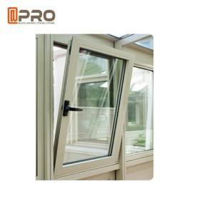 Buy cheap Wood Grain Casement Glass Tilt N Turn Windows Double Glazed Aluminum Profile product