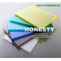 China 6mm blue twin wall hollow sheet polycarbonate sunshine sheet window plastic sheets wholesale