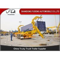 China 40ft Self Loading Container Trailer3 * 13 Tons Axles Mechanical Suspension on sale