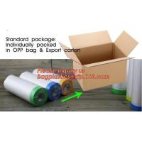 Buy cheap pre-taped paintable car masking film,auto paint solution HDPE masking film,1500 from wholesalers