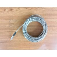 Buy cheap 5.2mm 7x19 Galvanized Steel Wire Rope Cable With Thimble Bright Coating product