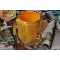 Buy cheap Color Sprayed Inside glass candlestick holders for Tealight or Wax Making , Hexagon Shape product