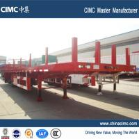 Buy cheap tri-axle 60ft flatbed trailer 50 tons with steel tube posts product