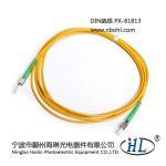 Buy cheap DIN Simplex-G652D 9/125 fiber optic patch cords made of advance ceramic ferrule product