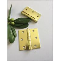 Buy cheap Bright Surface Polish 4 Inch Solid Brass Door Hinges Metal Brass Plated product