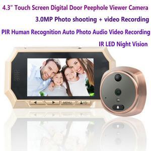 "Buy cheap 4.3"" Digital Door Peephole Viewer Photo Video Camera Recorder Night Vision Door Eye Smart PIR Doorbell Intercom System product"