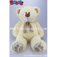 Buy cheap Toy,Plush Toy,Plush Stuffed Toy Beige Teddy Bear with Check Design Scarf and Paw and ear product