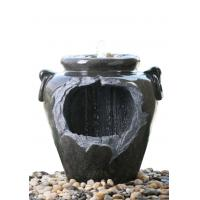 """China Chinese Style Jar Asian Water Fountains , Outdoor Cascading Water Fountains 18"""" wholesale"""
