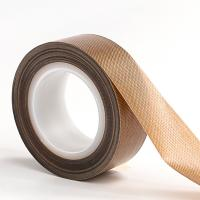 Buy cheap Heat Temperature Resistant PTFE PTFE Fiberglass Adhesive Tape for Heat Sealing Packing product