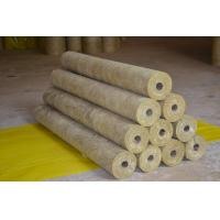 China High Density Rockwool Pipe Insulation Material Heat Resistant ISO CE wholesale