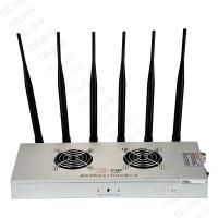 Buy cheap 450 * 240 * 85mm Cell Phone Frequency Jammer , 6 Band Portable Bluetooth Jammer product
