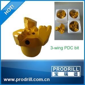 Buy cheap peu de 65mm-127mm 3-Wing PDC pour le perçage de puits d'eau from wholesalers