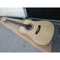 China AAAA handmade all Solid OKA guitar dreadnought body guitar imported wood soundhole EQ D acoustic electric guitar on sale