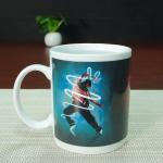 China Fda Red Glazed bulk plain mug full printing color changing coffee mug wholesale