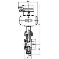 Buy cheap The pneumatic Model V piston type regulates the ball valve product