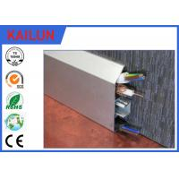 Buy cheap Interlocking Aluminium Skirting Board Natural Anodized , 6000 Series Aluminium Skirting Profiles product