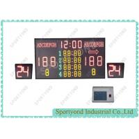 China Electronic Wireless Scoreboard With Shot Clock , Basketball Stadium Scoreboard wholesale