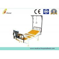 Buy cheap Double Arm Stainless Steel Crank Hospital Orthopedic Adjustable Beds with Traction Shelf (ALS-TB06) product