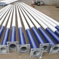 Buy cheap 6 M ~11 M Galvanized Street Lamp Pole GB / T19001-2008 / ISO9001 Q345 3 - 30 m from wholesalers