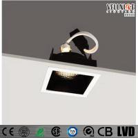 Buy cheap 30 Degree Tilt MR16 Recessed LED Downlight Square Shape , Led Ceiling Downlights product