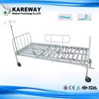 Buy cheap Square Tube Platform Manual Hospital Beds Double Crankset With IV Pole , Ease Handling product
