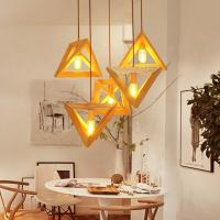 Buy cheap Triangle rectangle wood Pendant Hanging Lights For Indoor Home Kitchen Dining room (WH-WP-14) product