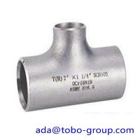 """Buy cheap seamless Stainless Steel Tee , single slit pipe wall thickness 1 / 2 """" NPS Sch5S to 24""""OD x30mm product"""
