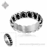 China Exquisite Mixed Styles Stainless Steel Different Sizes Skull Ring Design on sale
