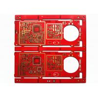 Buy cheap Red Soldermask HAL FR-4 Multilayer PCB Board with Immersion Gold product