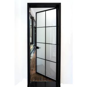 Buy cheap Bathroom Flat 6061 Aluminum Toilet Door Interior Decoration French Patio Swing Door product