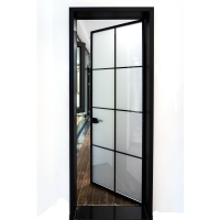 Buy cheap Bathroom Flat 6061 Aluminum Toilet Door Interior Decoration French Patio Swing from wholesalers