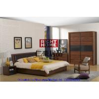 Buy cheap 2016 New Nordic Design Furniture by Leather Upholstered lift storage bed with Sliding door Wardrobe and Drawer Chest product