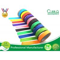 Buy cheap Low Adhesive Solvent - Based Acrylic Red Colorful Thin Masking Tape Crepe Paper product