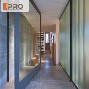 Buy cheap Commercial Aluminum Glass Single Pivot Door Black Color Powder Coated pivot Glass door Glass pivot door pivot glass door product