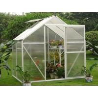 Buy cheap Slide Doors 4mm UV Twin-wall Polycarbonate Portable Garden Greenhouse Kits 6' X 4' product