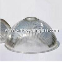 China Ribbed glass industrial pendant light shades wholesale