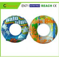 Buy cheap Machine Print Swimming Float Inflatable Pool Rings For Adults 0.25mm Thickness product