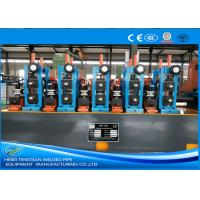 Buy cheap Round / Rectangular ERW Pipe Mill Line Worm Gearing Friction Saw Cutting product