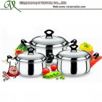 China Hot sales Stainless steel  cookware set Safety dish 16cm, 18cm, 20cm  Stripe Belly Casserole Set on sale