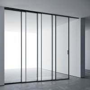 Buy cheap Deep Grey Aluminium Sliding Internal Door Crimsafe Mesh For Apartment product