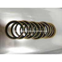 Buy cheap Coffee And Golden Color Hydraulic Piston Seals PTFE + Bronze + NBR / Cylinder Seal Kit product