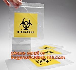 Buy cheap Biohazard LDPE lab specimen zipper bag customized Printing medicine bags, Pathology Specimen Medical Zipper Bag With Pri product