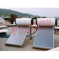 Buy cheap 150L 300L Pressurized Flat Plate Solar Water Heater With White Tank Copper Sheet product
