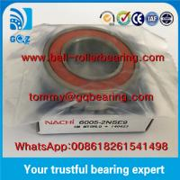 Quality Japan Origin Rubber Sealed Deep Groove Ball Bearing NACHI 6005-2NSE9 for sale